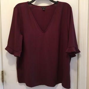 V neck flowy blouse